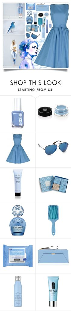"""""""Shinning In Sky Blue"""" by angelstylee ❤ liked on Polyvore featuring Essie, Givenchy, Victoria Beckham, Vera Bradley, Marc Jacobs, Disney, Neutrogena, Henri Bendel, Drybar and Clinique"""
