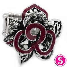 Silver & Purple Stretchy Band Ring #$5 #Paparazzi $5 Jewelry www.facebook.com/justfivedollars