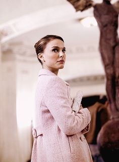 """Pink coat!...this is also a scene from the famed movie production, The Black Swan! this is when she is leaving with the director and runs into the """"elder ballerina"""""""