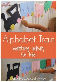 Toddler Approved!: Alphabet Train Matching Activity for Kids {Donald Crews Virtual Book Club Blog Hop} Name matching for 3's & spelling for older