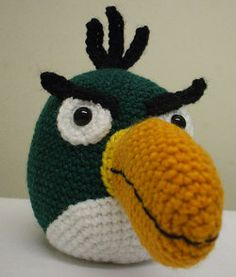 2000 Free Amigurumi Patterns: Angry Birds: Boomerang Green Bird