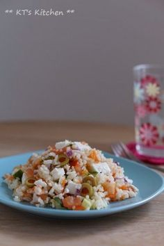 地中海風ライスサラダ - KT's Kitchen&Garden