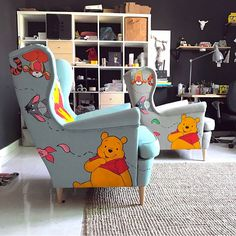 "Disney At Home (@disney_at_home) on Instagram: ""Soooooo in LOVE with these adorable Winnie the Pooh inspired chairs from the very talanted…"""