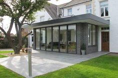 Take a look at this installation of bi-fold doors in our most popular colour 7016 Anthracite Grey.