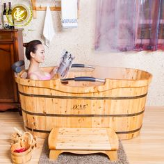 Cedar Bath Bucket Bathtub Bath Barrel Bath Tub Portable(China (Mainland))