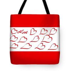 Tote Bag of 'Happy Valentine's Day 888' by Sumi e Master Linda Velasquez.