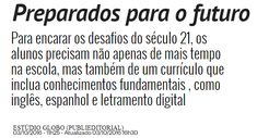 Notícia sobre letramento digital Math Equations, Words, Teaching, Social Networks, Reading, School, Future Tense
