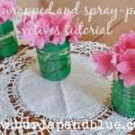 {DIY Tutorial} Twine-Wrapped, Spray-Painted Votive Holders