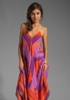 THEODORA & CALLUM Andes Scarf Dress in Violet Multi at Revolve Clothing - Free Shipping!