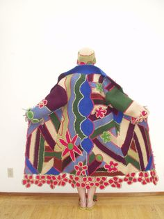 janet lipkin, flower crochet coat, 2005