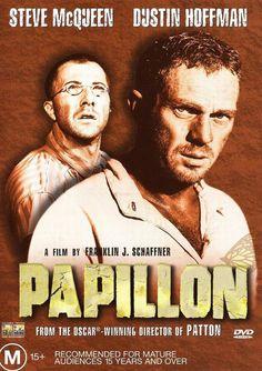 Papillon / Franklin J. Schaffner (1973) Espace Cinéma : F SCH P Papillon est condamné au bagne de Cayenne à perpétuité pour un meurtre qu'il n'a pas commis. Son seul espoir : l'évasion. Sur le navire qui l'emmène à Cayenne, il se lie d'amitié avec le faussaire Louis Delga. L'un possède la force physique, l'autre le pouvoir de l'argent. http://bibiguana-01.ville-valenciennes.fr/iguana/www.main.cls?Surl=search#RecordId=1.183058