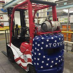 Patriotic Toyota #forklift