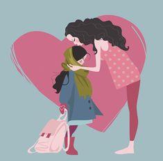 Ezt senki sem fogja helyetted megtenni: 21 dolog, amit mindenképpen szükséges elmondani a lányodnak! - Bidista.com - A TippLista! Family Illustration, Happy Mothers Day, Minnie Mouse, Disney Characters, Fictional Characters, Daughter, Teen, Relationship, Graphic Design