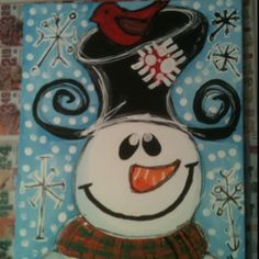 My snowman painting from our paint party!