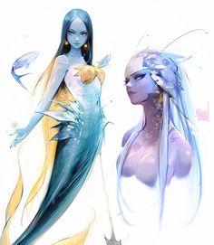 Mermaid Sketches by rossdraws