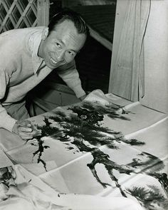 """Chinese Brushstrokes in Hollywood: The Works of Tyrus Wong  """"Tyrus Wong painted the backgrounds for Bambi, has been named a """"Disney Legend,"""" and had a long and awesome career in Hollywood. He is now 102 years old and """"can be found flying his works of art [handbuilt and painted kites] next to Santa Monica Pier"""" """"on the fourth Saturday afternoon of every month.""""  Photo: Courtesy of Pamela Tom."""