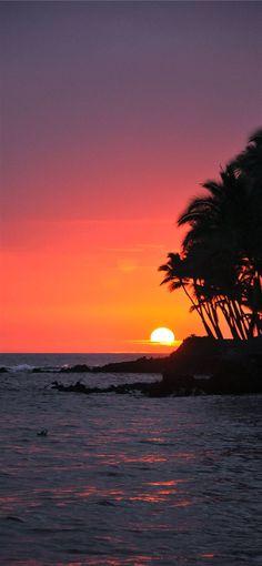 Big Island Sunset Hawaii iPhone  wallpaper – Cool Backgrounds