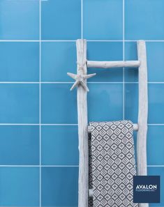 Riviera 8x8 Subway Tile shown in the Altea Blue color | Available at Avalon Flooring | Starting at $8.99/square foot | #subwaytile #tiledesign #homedesign