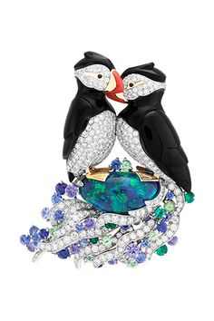 VCA. #VanCleef&Arpels #VCA #Noah'sArk #ArchedeNoé #Brooch #Broche #Animals #Animaux #Puffin #Macareux #HighJewellery #FineJewelry