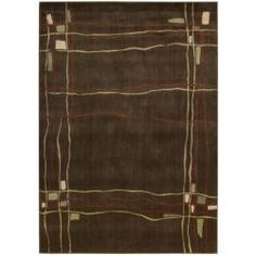 @Overstock - This rug's striking abstract pattern is completed with an intricate color palette of brown, red, beige and green. The designs on this rug are hand carved for additional texture which creates a wonderful addition to any setting.http://www.overstock.com/Home-Garden/Monaco-Brown-Abstract-Rug-79-x-1010/5647074/product.html?CID=214117 $240.99