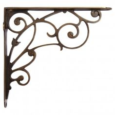 winding brass scrollwork shelf bracket antique brass