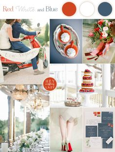 Patriotic Red, White, and Blue Fourth of July Wedding Inspiration with a French Country Twist! | See More! http://heyweddinglady.com/patriotic-red-white-blue-french-country-twist/