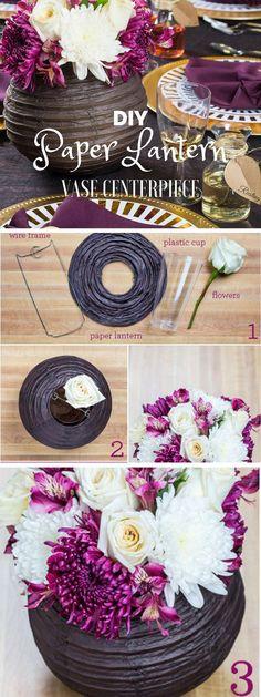 #DIY paper lantern vase centerpiece industry standard design. #DIYProducts #HomeDecor
