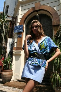 Amina K summer 08 collection -  I love how she uses the egyptian 'khayameya' fabric in her designs. Ramadan Crafts, Egyptian, Inspired, Summer, Fabric, Outfits, Collection, Design, Style