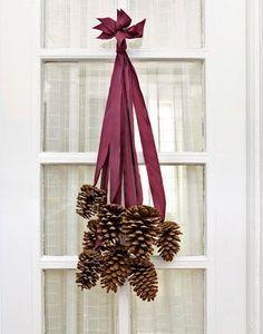Como usar pinhas na decoração de Natal