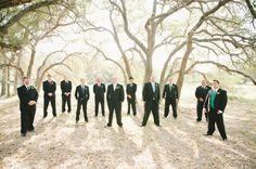 Groomsmen and Oak Trees | by Brita Photography | Texas Wedding