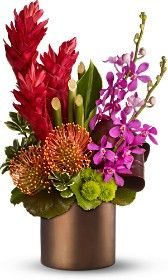 .Hawaiian floral arrangement