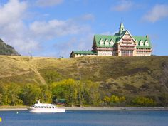 """In 1932, Canada and Montana created the world's first """"international peace park"""" -- the union of Waterton Lakes National Park and Glacier National Park. Explore the area's diverse geography, from prairies to mountains. Maybe even check into the Prince of Wales Hotel, overlooking the Canadian town of Waterton."""