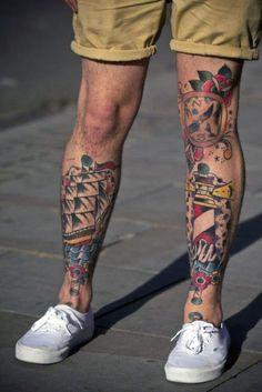 Resultado de imagen para traditional shin tattoo