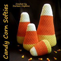 Candy Corn Crochet Pattern Softie Amigurumi by CrochetByDarleen
