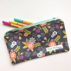 Our notions pouch is also perfect for all your favorite pens! I'll be listing this notions pouch tonight.