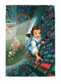I always loved this library from Beauty and the Beast!