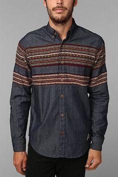 Ethnic detail on a men's shirt #men // #fashion // #mensfashion