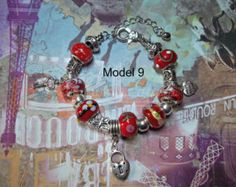 Elegant Metal Bracelet with fimo, metal and glass beads, unique models by moonlightcreazioni. Explore more products on http://moonlightcreazioni.etsy.com