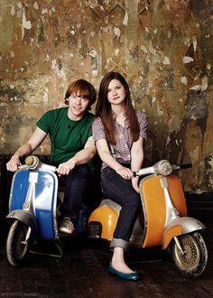 Rupert Grint and Bonnie Wright