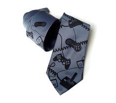 Video game controller necktie. Control Freak video by Cyberoptix