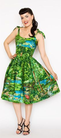 Jessica Pin Up Dress in Happy Valley