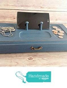 Jewelry Box Wood Valet Navy Blue Vintage Chic Eco Friendly Up Cycled from Crafty McDaniel http://www.amazon.com/dp/B018DCVFIC/ref=hnd_sw_r_pi_dp_j0qQwb0PCPZ40 #handmadeatamazon