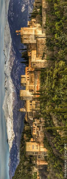 """The Alhambra """"The Red One"""", is a palace and fortress complex located in Granad. Islamic Architecture, Art And Architecture, Seville Spain, Andalusia Spain, Places To Travel, Places To Visit, Europe Holidays, Grenade, City Wallpaper"""