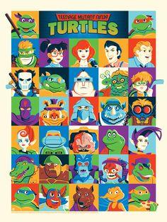 Teenage Mutant Ninja Turtles by Dave Perillo.