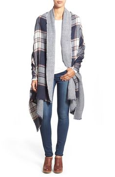 Halogen® 'Talent' Plaid Reversible Scarf available at #Nordstrom