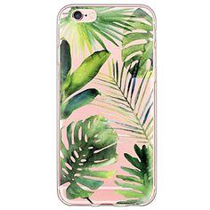 boombladeren patroon TPU ultra-dunne doorzichtige zachte rugdekking voor iphone van apple 6s 6 plus se 5s 5 – EUR € 2.64