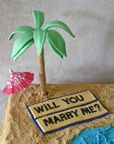 I would of never thought to do this supper simple idea on How to Make Edible Palm Trees for a Cake
