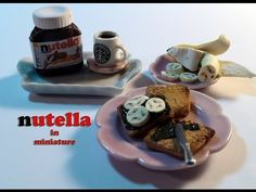 DIY: How To Make Miniature Nutella And Toast With Polymer Clay - YouTube