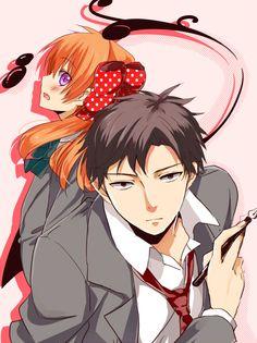 Chiyo Sakura x Umetarou Nozaki Gekkan Shoujo Nozaki-kun I Love Anime, All Anime, Me Me Me Anime, Manga Anime, Anime Stuff, Monthly Girls' Nozaki Kun, Hirunaka No Ryuusei, Gekkan Shoujo Nozaki Kun, Anime Nerd