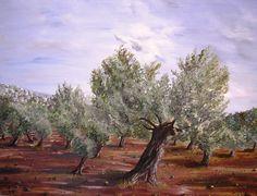 Yaffa Wainer - Olive trees at Gallilee, Israel